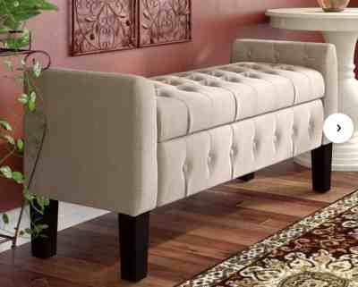 Wayfair: Throggs Upholstered Flip Top Storage Bench For $162.99 At Reg.$299.99