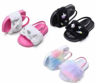 Amazon: Toddler Girls Cute Faux Fur Slides for $11.99 (Reg. Price $19.99) after code!