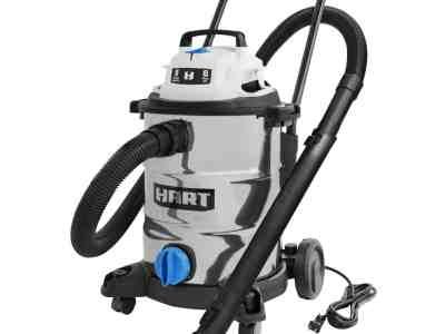 Walmart: HART 8 Gallon 6.0 Peak HP Stainless Steel Wet/Dry Vacuum For $64 (Was$74)