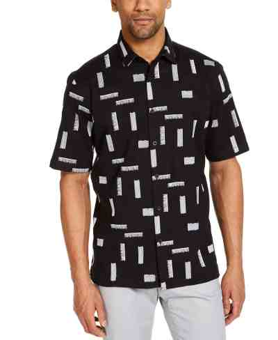 Macy's: Alfani Men's Classic-Fit Stretch Embroidered Shirt Only $9.96 + Free Store Pickup! (Reg. $60.00)