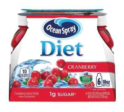 Amazon: Ocean Spray Diet Cranberry Juice Drink, 10 Ounce Bottle (Pack of 6) for $3.72