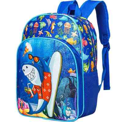 "Amazon: 80% Off at Checkout* Preschool Backpack, 14.5"" Shark Backpack for Boys Glitter"