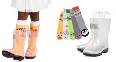 Jane: Girl's Clear Muk Luks Molly Rainboots with 5-Pack Socks for just $21.99 shipped!