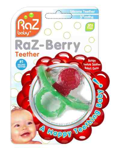 Walmart: RaZbaby Raz-Berry Silicone Teether for $3.46 Free Store Pickup (Reg. $6.47)