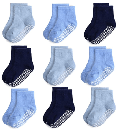 Amazon: 9 Pairs Anti Slip Infant&Toddler Grip Socks - 50% off W/Code