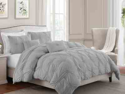 Sam's Club: Swift Home Premium Collection Ultra Plush Floral Pintuck Comforter Set (Assorted Sizes and Colors) For $29.98