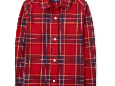 TCP: Boys Matching Family Plaid Poplin Button Down Shirt for ONLY $9.18 (Reg $23)