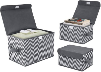 Amazon: Fabric Storage Bins & Storage Box with Flip-top Lid 3Pcs Only $13.85 (Reg. $23.99)
