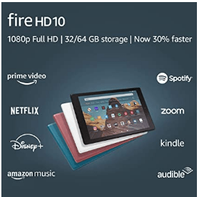 Amazon: Fire HD 10 Tablet (10.1? 1080p full HD display, 32 GB) – Twilight Blue Only $79.99 (Reg. $149.99)