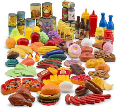 Amazon: 122 Pcs JaxoJoy Deluxe Pretend Play Food Set Only $20.39