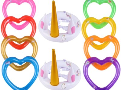 Amazon: JULY'S SONG Inflatable Unicorn Ring Toss Game Toys - 60% Off Code