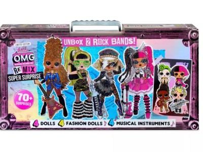 Target: L.O.L. Surprise! O.M.G. Remix Super Surprise – 70+ Surprises, 4 Fashion Dolls & 4 Dolls, Just $98.00 (Reg $129.99)