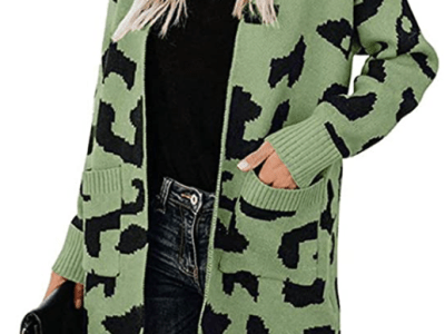Amazon: BTFBM Leopard Knit Long Cardigan Just $17.96