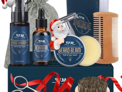 Amazon: Men Beard Grooming Kit Men Husband Christmas Gift - 30% OFF W/Code
