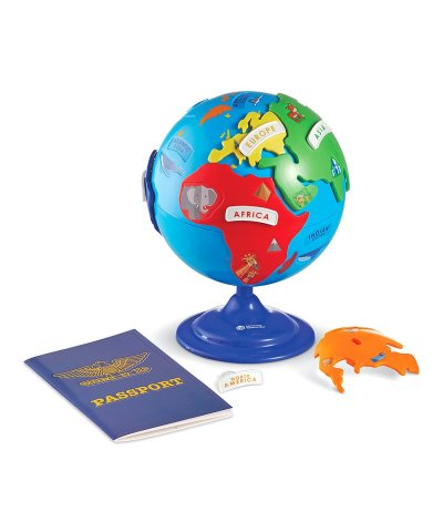 Zulily: Blue & Red Puzzle Globe & Learning Passport Set ONLY $17.99