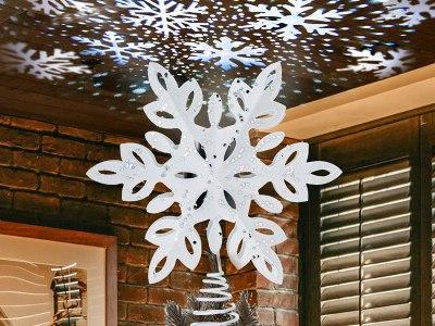Amazon: YEAHOME Snowflake Christmas Tree Topper for $16.79