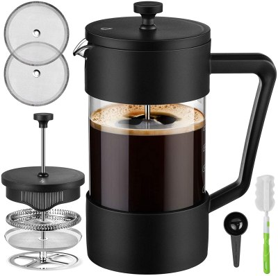 Amazon: Veken French Press Coffee & Tea Maker 34oz with 3 Filter Screens for $10.39 (Reg. $18.79)