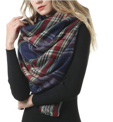 Amazon: Womens Plaid Blanket Scarf for $8.99 (Reg. Price $14.99) after code!