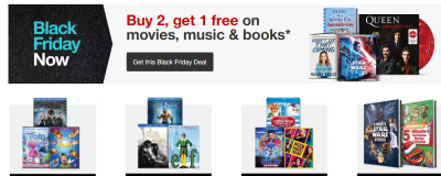 Target: Buy 2, Get 1 Free On Movies, Music & Books