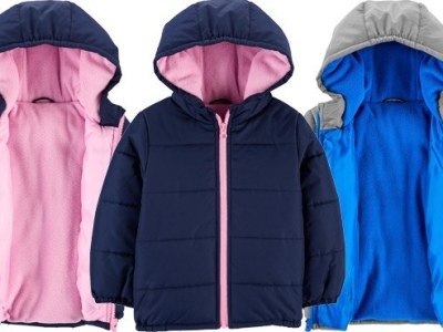Carter's: Toddler Faux Puffer Jackets ONLY $15