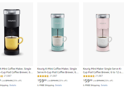 Amazon: Keurig Deals! K-Mini Coffee Brewer Only $59.99 (Reg $79.99) - Black Friday