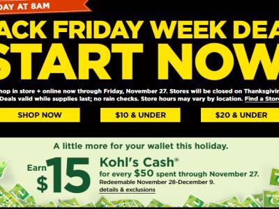KOHL's: BLACK FRIDAY DEALS-APPAREL