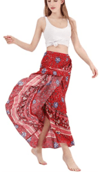 Amazon: Side Wrap Bohemian Asymmetric Maxi Long Skirt for only $8.79 (Reg. $39.99) after code!