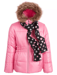 Macy's: S Rothschild & CO Big Girls Puffer Coat and Scarf for $15.99 (Reg. Price $85.00)