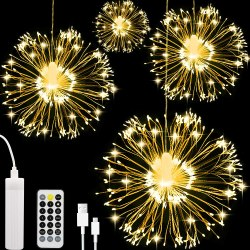 Amazon: 4Pk LED Firework Light, Waterproof $7.99 ($20)
