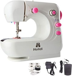 Amazon: Mini Electric Sewing Machine w/ Foot Pedal $20 ($40)