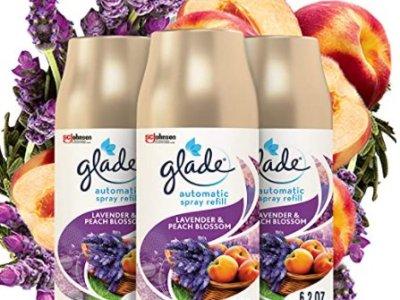 Amazon: 3 Pack 6.2 Oz Glade Automatic Spray Refill, Lavender & Peach Blossom for $9.30 (Reg. Price $15.00)