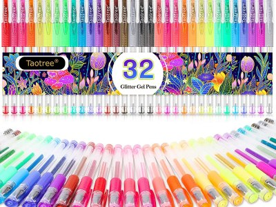 Amazon: 32 Color Neon Glitter Pens Fine Tip Art Markers Set for $5.77 (Reg.Price $15.99)