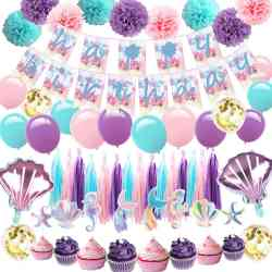 Amazon: 57 Mermaid Birthday Party Decorations Pack for only $9.49 (Reg: $19.99)