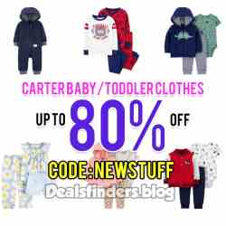 JCPenny: Carter baby/toddler clothes, up to 80% off after code!