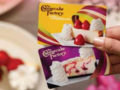 Get a $10 Bonus Card with $50+ The Cheesecake Factory Gift Card Purchase from Feb 16