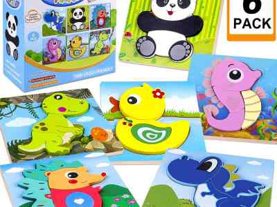 Amazon: Educational Preschool Toys Gift with 6 Animals Patterns for $7.20 (Reg.Price $17.99) after code!