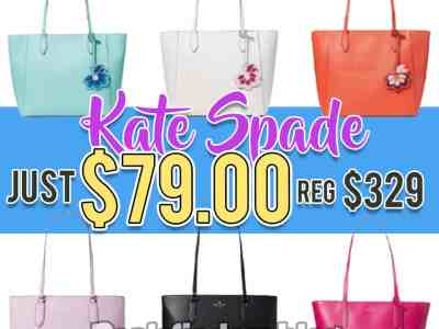 Kate Spade: Today Only Sale Tote Bag! Just $79.99 (Reg $329)
