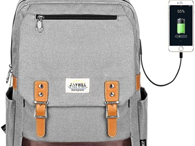 Amazon: Unisex Vintage School College Backpack with USB Charging Port for $13.49 (Reg.Price $26.99) after code!