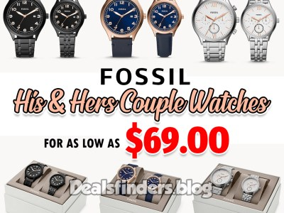 Fossil: His and Her Couple Watches, for as low as $69.99 (Reg. $249.00)