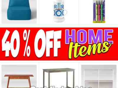 Target: Home Selected Items, 40% off!