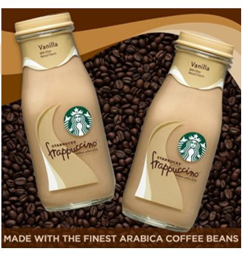 Amazon: 15 Count 9.5Fl oz Starbucks Frappuccino, Vanilla, Glass Bottles for $15.99!