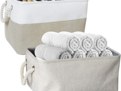 Amazon: 2 Pack Foldable Fabric Storage Bins, Just $4.99 (Reg $15.99) after code!