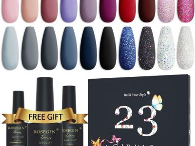 Amazon: 23 Pcs Gel Nail Polish Set with Glossy and Matte Top, Just $15.79 (Reg $29.99) after code and coupon!