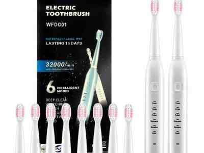 Amazon: 2pcs Electric Toothbrush, Adult Rechargeable Toothbrush, Just $15.99 (Reg $63.96) after code!