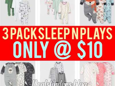Target: 3 pack sleep n plays, Just $10 Only!!