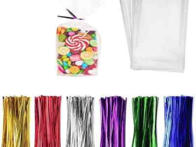 Amazon: 300 Pcs Clear Candy Bags Clear Cellophane Bags, Just $7.49 (Reg $14.99) after code!