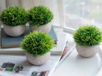 Amazon: 4 Pcs Artificial Potted Plant for $14.39 (Reg. Price $23.99)