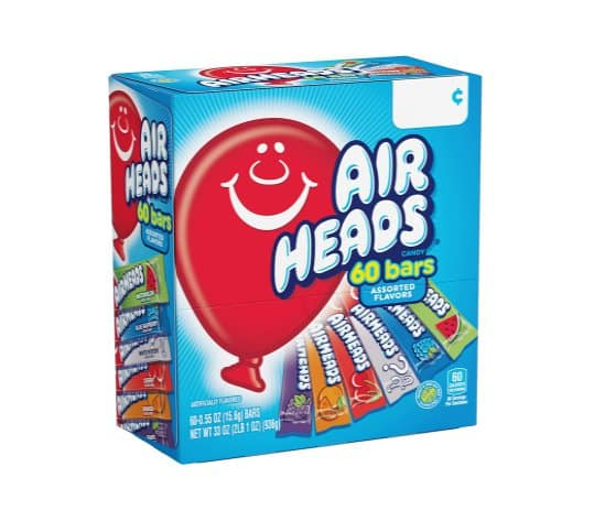 Amazon: 60 Count Airheads Candy Bars for $6.38 (Reg. Price $7.98) after coupon!