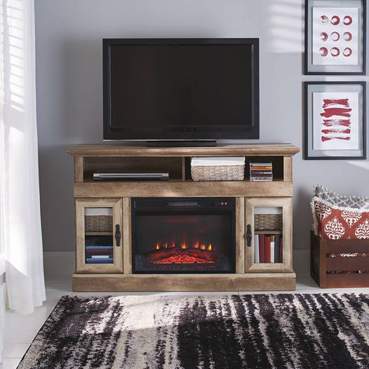 Walmart: Better Homes & Gardens Crossmill Fireplace Media Console, Just $239.00 (Reg $349.00)