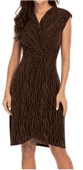 Amazon: Cap Sleeve Crossover Wrap Retro Glitter Stretchy Midi Pencil Dresses for only $7.25 (Reg: $28.99)
